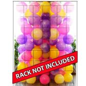 144 Units of Wholesale ASST MARBLE COLORED 10 INCH PVC BALLS RACK NOT INCLUDED