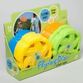 48 Units of Flying Disc 9in 4asst Colors 24pc Pdq Upc Label - Summer Toys