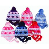 48 Units of Wholesale EAR COVER KNIT HAT INFANTS ASSORTED COLORS
