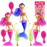 96 Units of 7 PIECE MINI MERMAID PLAYSETS. - Novelty Toys