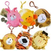 288 Units of PLUSH ANIMAL COIN PURSE KEY RINGS - PURSES/WALLETS
