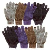48 Units of Wholesale 9.5 MENS ASSORTED CHENILLE GLOVE 5 ASSORTED COLOR - Winter Hats