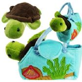 24 Units of PLUSH TURTLE IN TRAVEL PURSE.