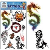 200 Units of DRAGON AND TIGER TEMPORARY TATTOOS