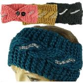 120 Units of KNIT SKIBANDS w/BUTTON CLOSURES