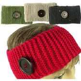 120 Units of KNIT SKIBANDS w/BUTTON ACCENT.