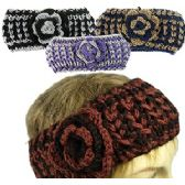 24 Units of 2-TONE KNIT SKIBANDS w/FLOWER
