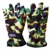 48 Units of Wholesale MENS CAMOUFLAGE FLEECE GLOVES CAMOUFLAGE FLEECE - Fleece Gloves