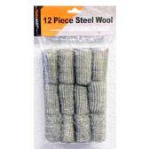 72 Units of Wholesale 12PC STEEL WOOL 12PC
