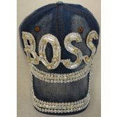 24 Units of Denim Hat with Bling *Silver [BOSS]]