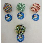 """24 Units of 3"""" Pet Rope Knot Ball"""