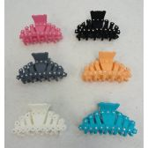 "24 Units of 3.5"" Claw Clip with Rhinestones - Hair Accessories"