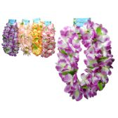 96 Units of 2x22 Hawaiian Flower Leis - Floral/Branches