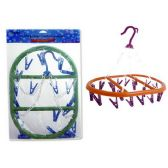48 Units of Clothes Hanger Oval W/20pegs - Clothes Pins