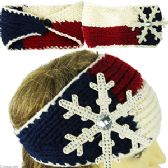 120 Units of KNIT SKIBANDS w/SNOWFLAKE. - Ear Warmers