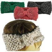 120 Units of KNIT BOWTIE SKIBANDS w/SPARKLE ACCENTS. - Ear Warmers