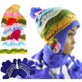 36 Units of KIDS CHULLO HAT, SCARF & GLOVE SETS. - Winter Sets Scarves , Hats & Gloves