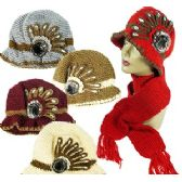 36 Units of KNIT CLOCHE HAT & SCARF SETS - Winter Sets Scarves , Hats & Gloves