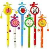 300 Units of RATTLE DRUM PENS. - Pencil Grippers / Toppers