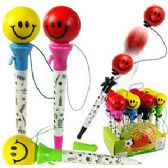 240 Units of SMILEY FACE POP-UP PENS - Pens