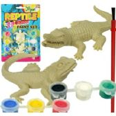 36 Units of 3D REPTILE FIGURES PAINT KITS - Craft Kits