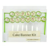 144 Units of Baby Shower Cake Banner & Candles Kit - Candles