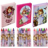 24 Units of 8 PIECE DISNEY'S SOFIA THE 1ST CRAYONS- 3 PACK. - Chalk,Chalkboards,Crayons