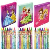 24 Units of 8 PIECE DISNEY'S PRINCESS CRAYONS- 3 PACK - Chalk,Chalkboards,Crayons