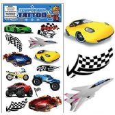 200 Units of RACING TEMPORARY TATTOOS - Tattoos and Stickers