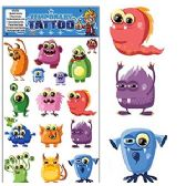 200 Units of FUNNY MONSTER TEMPORARY TATTOOS - Tattoos and Stickers