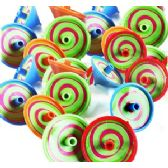 1800 Units of PLASTIC SPINNING TOP ASSORTMENTS - Novelty Toys