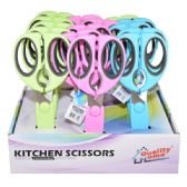 "30 Units of Kitchen Scissors Display Assorted colors 8"" - Scissors"