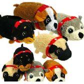 72 Units of MINI PLUSH STACKABLE DOGS. - Plush Toys