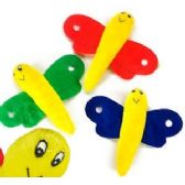 144 Units of PLUSH VELOUR BUTTERFLY. - Plush Toys