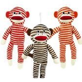 192 Units of STRIPED SOCK MONKEYS