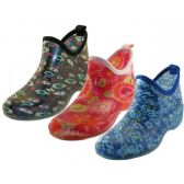 24 Units of Women's Printed Garden Shoes - Womens Boots
