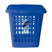 6 Units of Tall Rect Laundry Hamper With Cover - Waste Basket