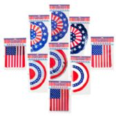 72 Units of Patriotic Banner 12ft 3ast Bunting/flag/triangle 3 Finish Patriotic Polybag/header - 4th Of July