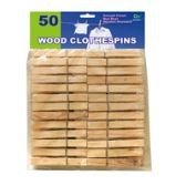 48 Units of 50 Piece Wood Clothespins - Clothes Pins