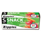 "24 Units of 60 CountT Zip Seal Snack Bags 6.5""X3.25"" - Food Storage Bags & Containers"