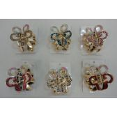 "48 Units of 3"" Gold Claw Clip [Butterfly-Round Wings] - Hair Accessories"