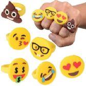 180 Units of Silicon Emoji Rings - Rings