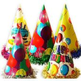 384 Units of PAPER BIRTHDAY PARTY HATS W/FRINGE - Party Favors