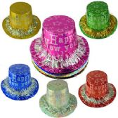 200 Units of PAPER FRINGED HAPPY NEW YEAR HATS - Party Favors