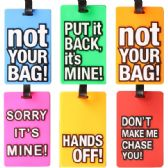 72 Units of LUGGAGE TAG Assorted Sayings - Travel
