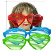 144 Units of JUMBO HEART SHUTTER SHADE GLASSES. - Party Favors