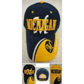 """48 Units of MICHIGAN Hat """"M"""" [M/Wave on Bill] - Hats With Sayings"""