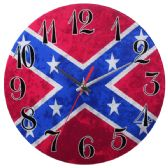 12 Units of Glass Wall Clock Red And Blue