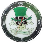 12 Units of Glass Wall Clock Irish