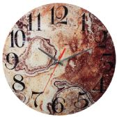 24 Units of Glass Wall Clocks Marbelized